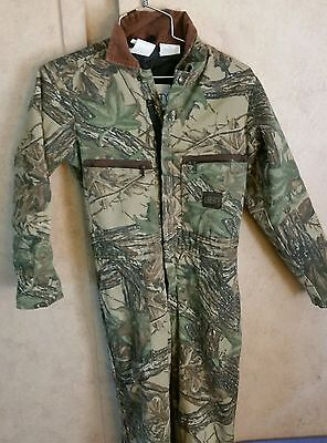 LIBERTY  Realtree Camouflage Insulated Coveralls Youth Size 12. USA made