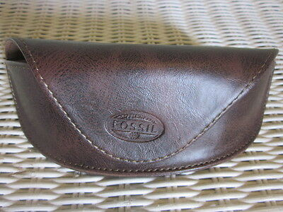 Fossil Glasses Case - Dark Brown / Magnetic Closure