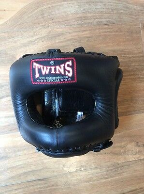 New Twins Special Facesaver Head Gear Sparring Kickboxing Boxing Helmet M