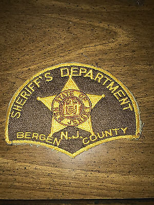 1970's Bergen County New Jersey Sheriff's Department Patch