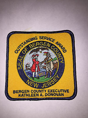 Bergen County New Jersey Outstanding Service Award Patch