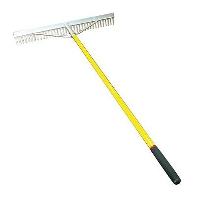 Landscapers Rake Aluminium F/G Handle 36 Tooth 915mm Wide Sand Levelling Soil