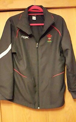 WRU Welsh Rugby grey Men's training tracksuit jacket size small s zip top union