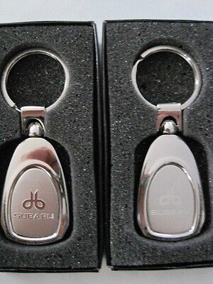Bundle of 2 SUBARU keychain key chain from Virginia metal NEW never used CHEAP