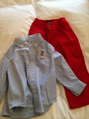 Ralph Lauren toddler shirt and trousers 2 years