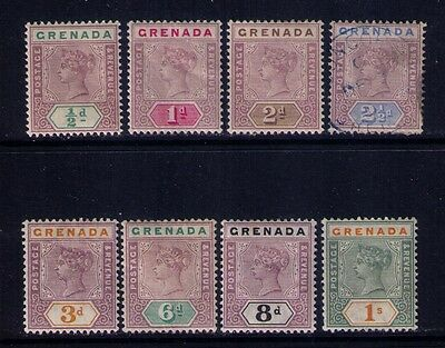 GRENADA STAMPS SC# 39-46 Cplt MH/MNG & 1 USED Cat.$125