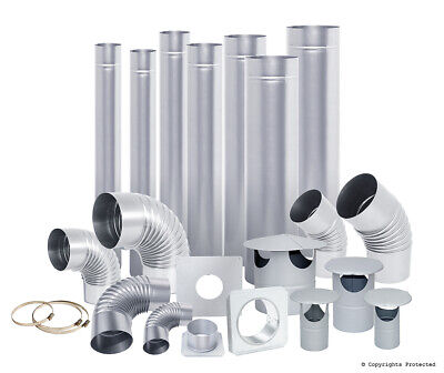 Steel Flue Pipes, Elbows, Cowls - From 4 Inch Up To 6 Inch