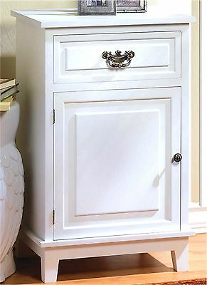 """""""atlantic"""" Stately White Storage Cabinet, Side, End Or Night Table ** Nib"""