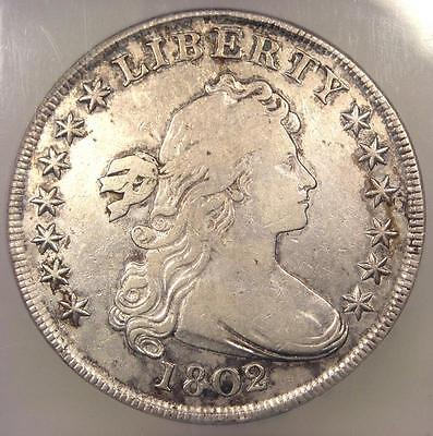 1802/1 Draped Bust Silver Dollar $1 BB-233 - Certified ICG VF20 - Rare Coin!