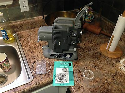 Vintage YASHICA 8P 8MM Movie Projector In Original Case (Working)