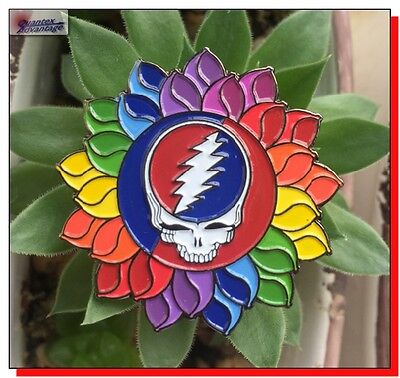 Collectible Grateful Dead Stealy Steal Your Face Enamel Lapel Hat Pin Garcia
