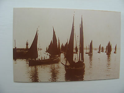 THE FISHING FLEET @ ST IVES, CORNWALL c.1890  - REPRODUCTION POSTCARD