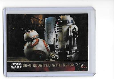 2016 Star Wars Force Awakens Chrome BB-8 Reunited with R2-D2 Superfractor 1/1