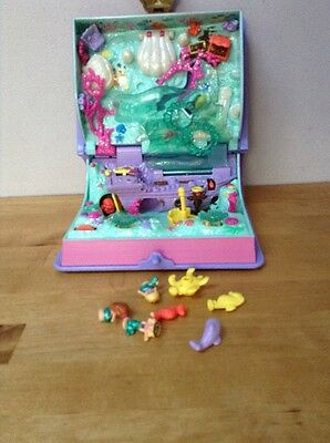 Rare Polly Pocket Play Set Case With Mermaids