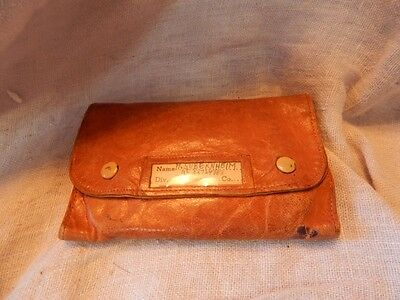 Vintage Leather 1950s Military Sewing Mending Kit