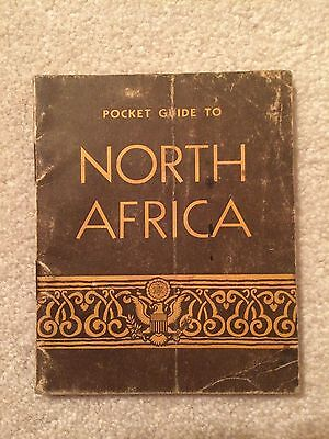 Original Ww2 U.s. Army Pocket Guide To North Africa Dated 1942
