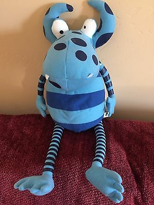 "FAO SCHWARZ (Not So) SCARY MONSTERS plush WILF THE MUDDLY 18"" Muddly Monster"