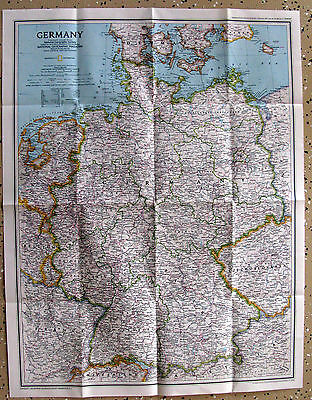 Germany -  National Geographic Map / Poster Sept 1991