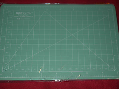 A5 Cutting Mat Craft  Printed Grid Lines Board- Light GREEN
