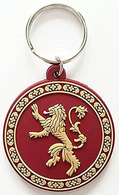Game of Thrones House of Lannister Rubber Keychain  - Great Gift Idea
