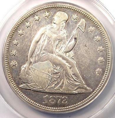 1872 Seated Liberty Silver Dollar $1 Coin - Certified ANACS XF45 Details (EF45)!