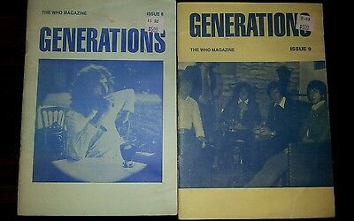 The Who magazine - Generations - fanzine - issues 8 & 9