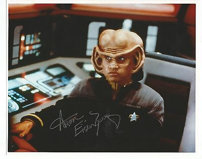 STAR TREK DS9 ARON EISENBERG as NOG SIGNED AUTOGRAPHED IN PERSON 8X10