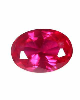 6.70Cts GORGEOUS RED CUBIC ZIRCONIA OVAL CUT LOOSE GEMSTONE CZ VVS