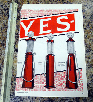 Hayes Equipment Co Visible Gas Pump Color Magazine Ad - 156 - FREE SHIPPING