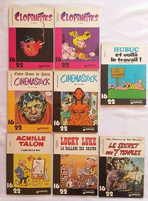 Lot BD - Collection 16/22 / Cinemastock Clopinettes Achille Talon Lucky Luke