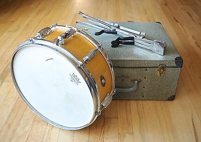1963 Slingerland Vintage Student Model Maple Snare Drum Sparkling Gold Pearl