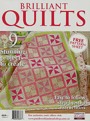 Brilliant Quilts  Magazine 2015.    Pattern Sheet Inside