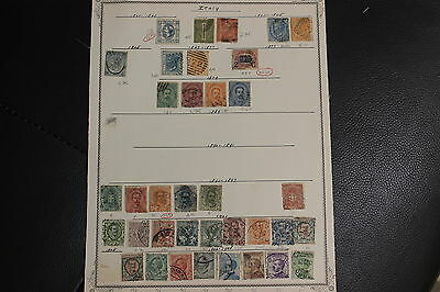948-7205,ITALY STAMPS 1863-1932 ON 4  PAGES Used,Cat.$190
