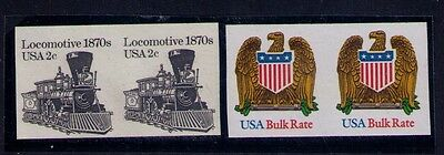 Usa Stamp Sc# 1897, 2604 Imperfect Pairs Mnh