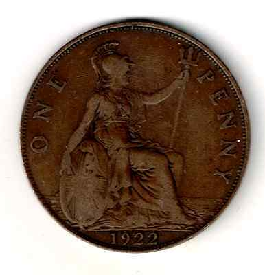Liquidation! 1922 UK Penny