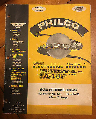 Philco Parts Catalogs from 1953 and 1959