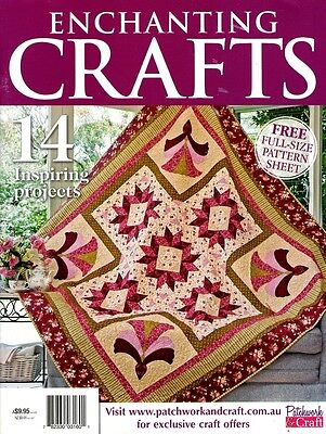 Enchanting  Crafts  Magazine 2015  Pattern Sheet Attached