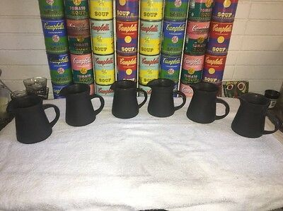 Up to (6) vintage early BENNINGTON POTTERS MATTE BLACK Creamers 1326a  David Gil