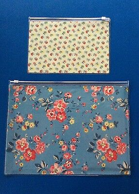 Original Cath Kidston (A4 & A5) floral plastic wallet with zip -New