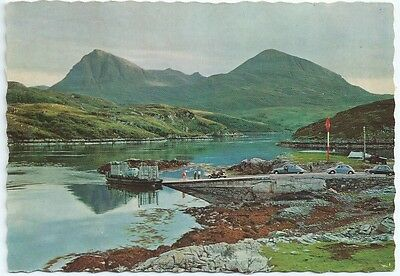 Vintage Postcard. Kylesku Ferry. Unused.  Ref:5/374
