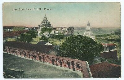 Vintage Postcard. View From Parvatti Hill, Poona(Pune). INDIA. Unused. Ref:62333