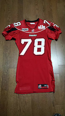"CFL 2005 Calgary Stampeder Game Worn Jersey ""Thomas"""