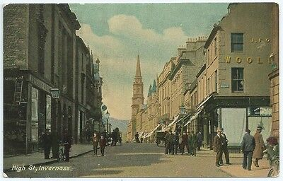 Vintage Postcard.  High Street, Inverness. Unused.  Ref:5853