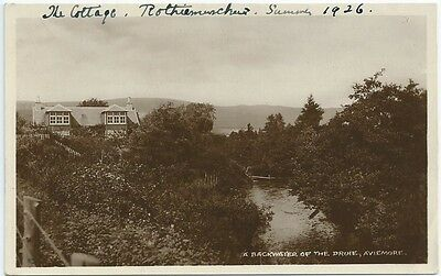 Vintage Postcard.Backwater of the Druie, Aviemore. Unused.  Ref:5860