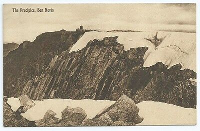 Vintage Postcard. The Precipice, Ben Nevis. Unused.  Ref:63339