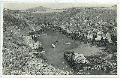 Vintage Postcard. Porthclais Harbour, Near St. David's. Unused. Ref:57321