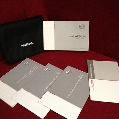 2012 Nissan Altima Owners Manual with warranty and service guide and case
