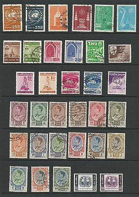 Thailand Stamp Collection #331 // #360 Mh And Used 34 Stamps Cv $44.305  L51