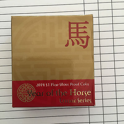 RAM 2014 Year of the Horse $1 Silver Proof Coin Boxed