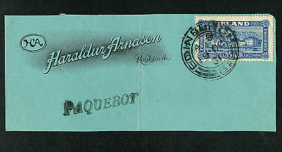 ICELAND 1931 Paquebot Cover Piece- S#147